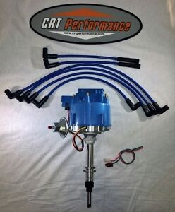 Chevy Inline 6 Straight 6 194 230 250 292 Hei Distributor Blue 8mm Plug Wires