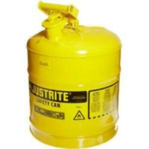 Yellow Metal Safety Can Type 1 Five Gallon Capacity For Diesel Fuel 7150200