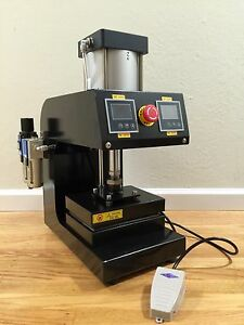 Pneumatic Professional Rosin Press 5000psi 6 X 8 Platen Solventless Foot Pedal