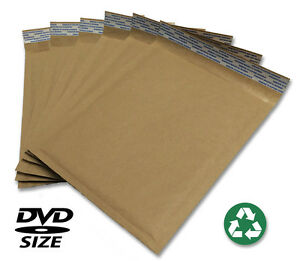 Size 0 6 5 x9 Recycled Natural Brown Kraft Bubble Mailer usa Made