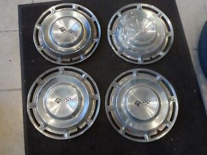 1960 60 Chevrolet Impala 14 Hub Caps Oem Hot Rod Wheel Rim Cover Hot Rod