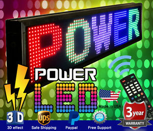 Mixed Color Led Sign 22 X 60 Rgbwyp Programmable Scrolling Message Board Usa