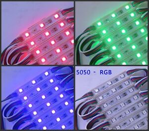 Store Front Window Led Module 100pcs Rgb 5050 Smd Waterproof Full Color 12v