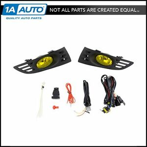 Fog Driving Light Lamp Wiring Switch Yellow Upgrade Pair Kit Set For Accord 2dr