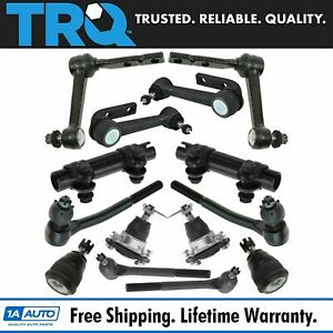 Trq 12 Piece Kit Front Lh Rh Idler Arms Tie Rods Ball Joints For Astro Safari