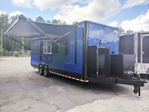 8 5x26 Bbq Porch Trailer 7 000 Lbs Axles Refrigeration Cooking Equipment