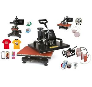 New Design 5 In 1 Heat Press Machine For T Shirt mug cap plate phone Cases Etc