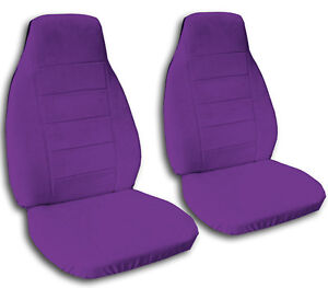 2 Purple Velvet Car Seat Covers Universal Size