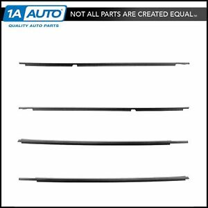 Oem 4 Piece Front Rear Outer Door Belt Molding Weatherstrip Kit For 4runner