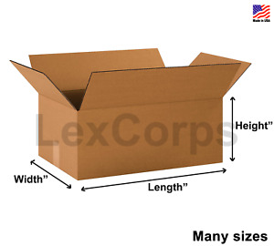 Shipping Boxes Many Sizes Available Choose L X W X H