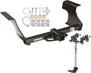 Trailer Hitch Complete Rola 3 bike Rack Carrier Pkg For 09 13 Subaru Forester