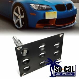 For Bmw 328i 528i E39 E46 E90 X5 X6 Bumper Tow Hook License Plate Mount Bracket