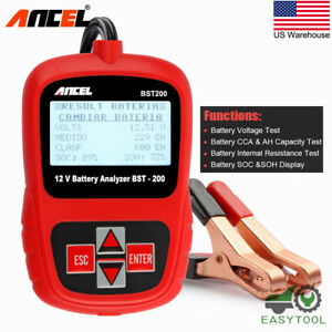 12v Automotive Car Battery Tester Digital Vehicle Analyzer 2000cca Ancel Bst200