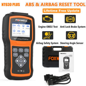 Foxwell Nt630 Plus Obd2 Code Reader Automotive Abs Airbag Srs Sas Reset Scanner