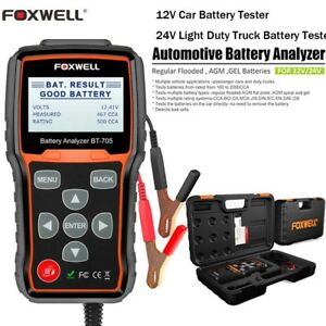Auto 12v 24v Car Battery Load Tester Charging Cranking System Tester Scan Tool