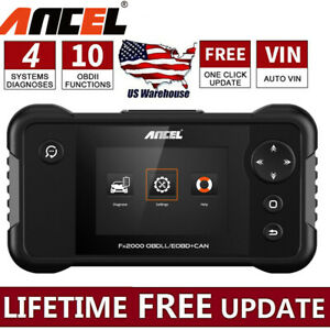 Ancel Fx2000 Fault Code Reader Engine Transmission Abs Srs Diagnostic Scan Tool