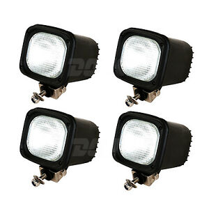 4pcs 55w 12v Flood Xenon Hid Work Light For Atv Suv Truck Tractor Boat Jeep Ute
