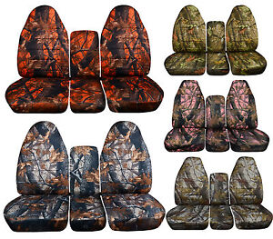 1993 1998 Ford F Series 40 20 40 Seat Covers 17 Different Camouflage Designs