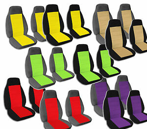 2 Bucket Seat Covers 2 Armrest Covers Ford F 150 F 250 F 350 Choose Color