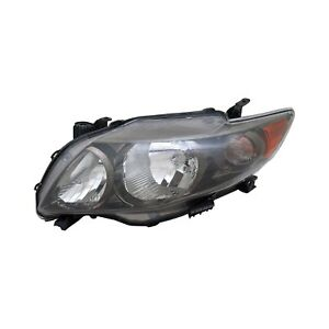 For Toyota Corolla 2009 2010 Tyc 20 6994 90 9 Driver Side Replacement Headlight