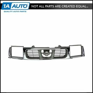 Grille Grill Chrome Silver Front For 98 00 Nissan Frontier Pickup Truck