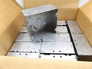 Case Of 25 Appleton 4sjd 1 1 4 Square Box 4 11 16 2 1 8 Deep 42 Cubic Inches