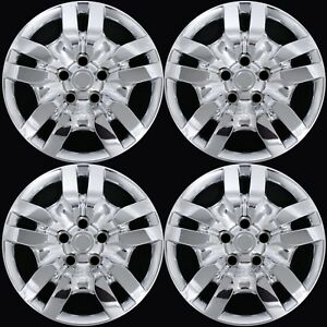 4 Fits Nissan Altima 2002 2012 Chrome 16 Bolt On Full Wheel Covers Rim Hub Caps