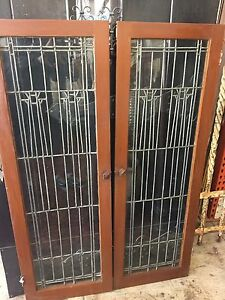 Arts And Crafts Leaded Glass Stickley Style Craftsman Windows Cabinet Doors