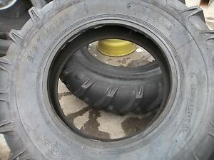 One New 16 9x28 John Deere 8 Ply R 1 Bar Lug Rear Farm Tractor Tire