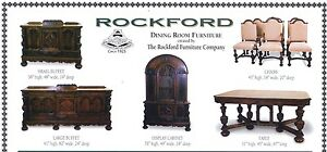 Rockford Dining Room Furniture Set Circa 1925