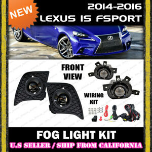 For Lexus Is F sport 14 15 16 Fog Light Driving Lamp Kit W switch Wiring clear