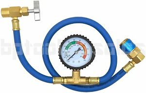 26 R134a Ac Hvac Recharge Measuring Refrigerant Hose Can Tap With Gauge System