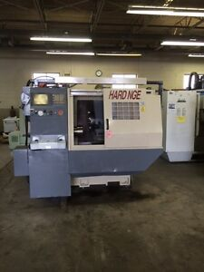 2000 Hardinge Cobra 51 Cnc Lathe With 8 Chuck And Tailstock Under Power