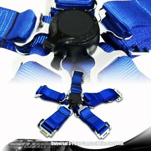 1 X Universal Blue Heavy Duty 5 Point Camlock Safety Harness Racing Seat Belt