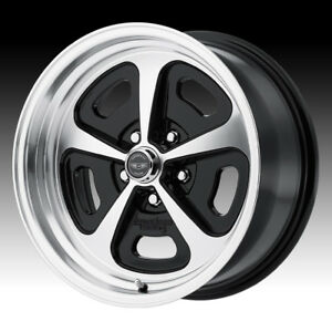 American Racing Vn501 500 Mono Cast Machined Black 15x7 5x4 5 0mm Vn50157012500