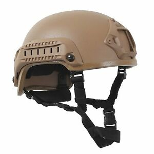 Airsoft Helmet ABS Plastic Base Jump Tactical Coyote Brown Rothco 1894