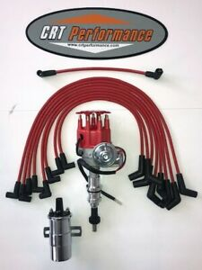 Small Block Ford 289 302 Red Small Hei Distributor 45k Chrome Coil Wires Usa