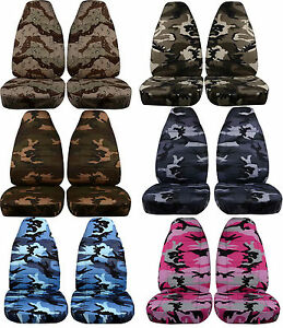Camo Seat Covers Chevy Gmc Silverado Tahoe Suburban 95 99 Split Bench Option