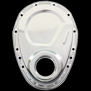 Chrome Timing Cover Fits Small Block Chevy 327 350 383 400 Chevrolet Engines