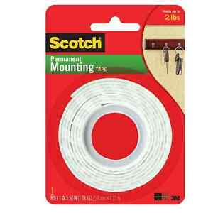 Scotch Indoor Mounting Tape Heavy Duty 1 X 50 1 Ea pack Of 8