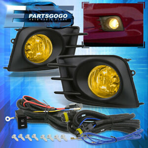 For 2011 2013 Scion Tc Jdm Yellow Driving Fog Lights Lamps Wiring Harness Kit
