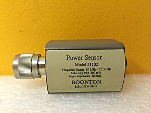 Boonton 51102 30 Mhz To 26 5 Ghz 300 Mw 20 To 20 Dbm Power Sensor