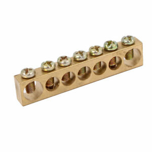 7 Positions Electric Wire Line Screw Terminal Ground Copper Neutral Bar Stick