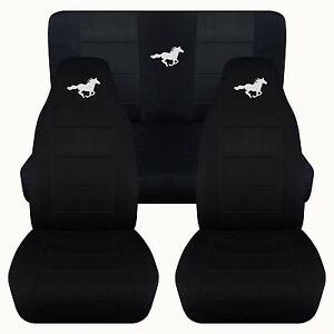 Car Seat Covers 1994 2004 Ford Mustang Coupe Convertible Black Design Custom Fit