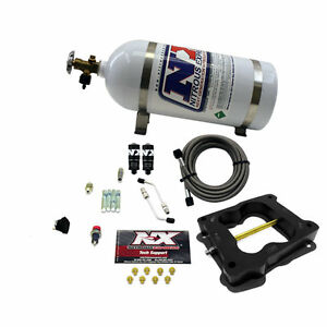40080 10 Nitrous Express Q Jet Holley Carb Hitman Kit 10lb Bottle