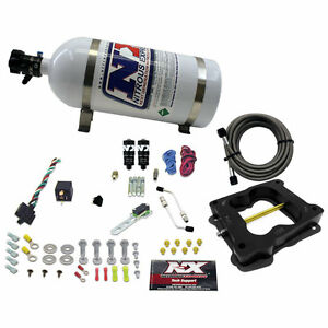 40081 10 Nitrous Express Q Jet Holley Carb Hitman Plus Kit 10lb Bottle
