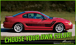 1994 1998 Ford Mustang Side Racing Stripe Vinyl Graphics Gt 1995 1996 1997 7