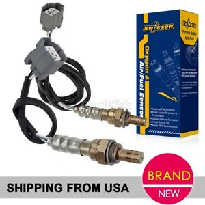 2pcs Upper Under O2 Oxygen Sensor For 1996 1997 Honda Accord 2 2l Eng F22b2