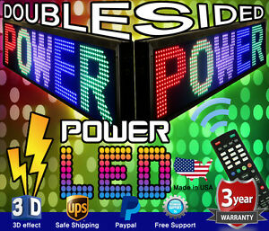 Mixed Color Double sided Led Sign 19 X 69 Programmable Scrolling Message Board