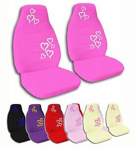 2 Front Hearts Velvet Seat Covers With 16 Color Options